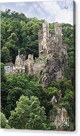 Rheinstein Castle Acrylic Print by Oscar Gutierrez