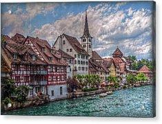 Rhine Bank Acrylic Print by Hanny Heim