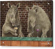 Rhine Tasting... Acrylic Print by Will Bullas