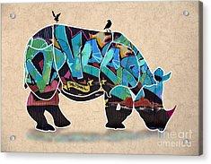 Rhino 2 Acrylic Print by Mark Ashkenazi