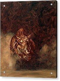 Rhino Charger Heaven Acrylic Print by Sarah Soward