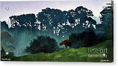 Rhino In The Rough... Acrylic Print by Will Bullas
