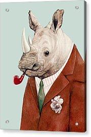 Rhino Acrylic Print by Animal Crew