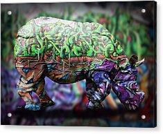 Rhino4 Acrylic Print by Mark Ashkenazi