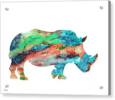 Rhinoceros  Acrylic Print by Luke and Slavi