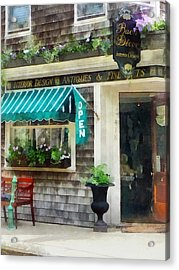 Rhode Island - Antique Shop Newport Ri Acrylic Print by Susan Savad