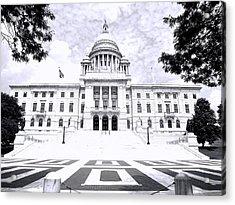 Rhode Island State House Bw Acrylic Print by Lourry Legarde