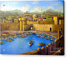 Acrylic Print featuring the painting Rhodes by Lou Ann Bagnall