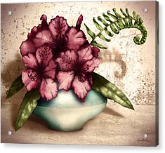 Rhododendron I Acrylic Print by April Moen