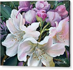 Acrylic Print featuring the painting Rhododendron by Marta Styk