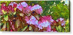 Acrylic Print featuring the digital art Rhododendron Splash by Spyder Webb