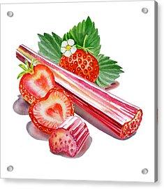 Acrylic Print featuring the painting Rhubarb Strawberry by Irina Sztukowski