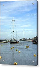 Rhyl Harbour Acrylic Print by Christopher Rowlands