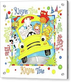 Rhyme Time Acrylic Print by P.s. Art Studios