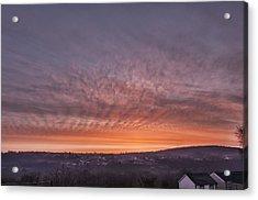 Rhymney Valley Sunrise Acrylic Print by Steve Purnell