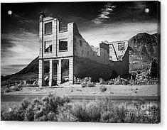 Rhyolite Bank In Death Valley Acrylic Print