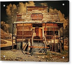Rhyolite Mercantile Acrylic Print by Steve Benefiel