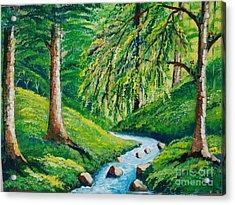 Riachuelo En El Bosque Tropical Acrylic Print