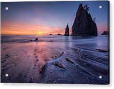 Acrylic Print featuring the photograph Rialto Beach Sunset by Dan Mihai
