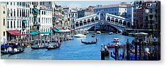 Rialto Bridge & Grand Canal Venice Italy Acrylic Print by Panoramic Images