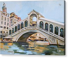 Rialto Bridge Acrylic Print by Filip Mihail