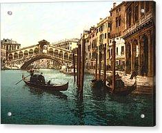 Rialto Bridge Venice Italy Refurbished Acrylic Print by L Brown