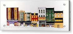 Rialto Theater Acrylic Print by William Renzulli