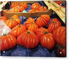 Ribbed Tomatoes Acrylic Print by Pema Hou