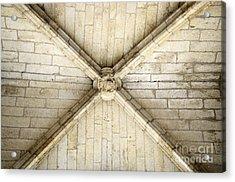 Ribbed Vault Keystone Acrylic Print by Sami Sarkis