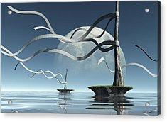 Ribbon Island Acrylic Print by Cynthia Decker