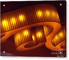 Acrylic Print featuring the photograph Glowing Ribbon by Lyric Lucas