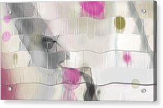 Ribbons And Drips Acrylic Print by Constance Krejci