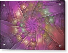 Ribbons Acrylic Print by Sandy Keeton