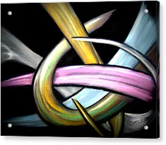 Ribbons Acrylic Print by William  Paul Marlette