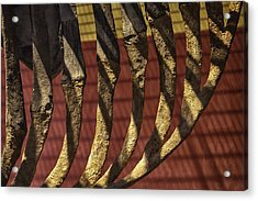 Ribcage On Red And Gold Acrylic Print