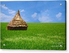 Rice Farming Acrylic Print by Boon Mee