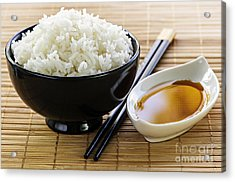 Rice Meal Acrylic Print by Elena Elisseeva