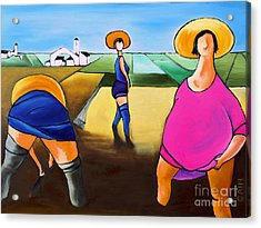 Rice Pullers Acrylic Print