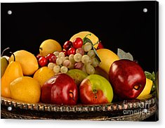 Rich Bowl Of Fruit Acrylic Print by Timothy OLeary