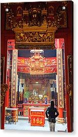 Rich Decoration In Chinese Temple - Sze Yah Temple - Kuala Lumpur - Malaysia Acrylic Print by David Hill