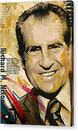 Richard Nixon Acrylic Print by Corporate Art Task Force