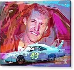 Richard Petty Superbird Acrylic Print by David Lloyd Glover