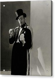 Richard Pitchford Doing A Card Trick Acrylic Print