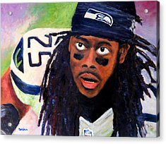 Richard Sherman Acrylic Print by Marti Green
