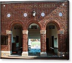 Richardson Stadium Main Gate - Davidson College Acrylic Print by Paulette B Wright