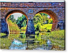 Acrylic Print featuring the photograph Richmond Bridge by Wallaroo Images