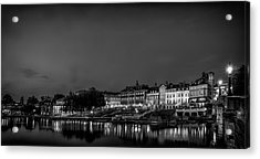 Richmond Landscape Bw Acrylic Print by Leigh Cousins