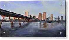 Richmond Virginia Skyline Acrylic Print by Donna Tuten
