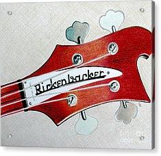 Rickenbacker Acrylic Print by Glenda Zuckerman