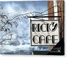 Ricks Cafe Acrylic Print